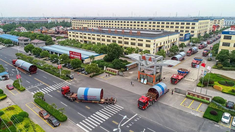 江苏鹏飞集团承建的乌兹别克斯坦生态水泥厂EPC工程总承包首批货物发运